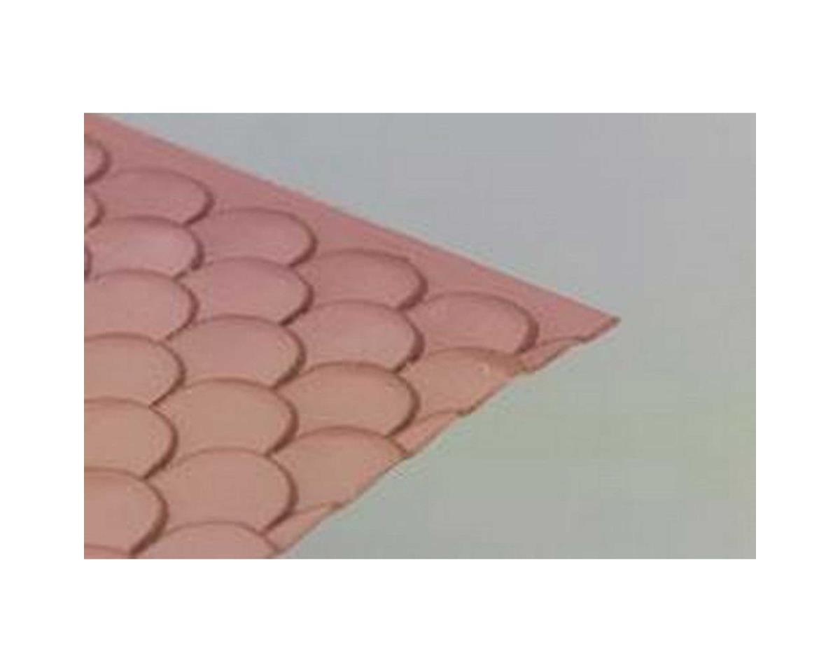 Plastruct PS-128 G Scalloped Edge Tiles  (2)