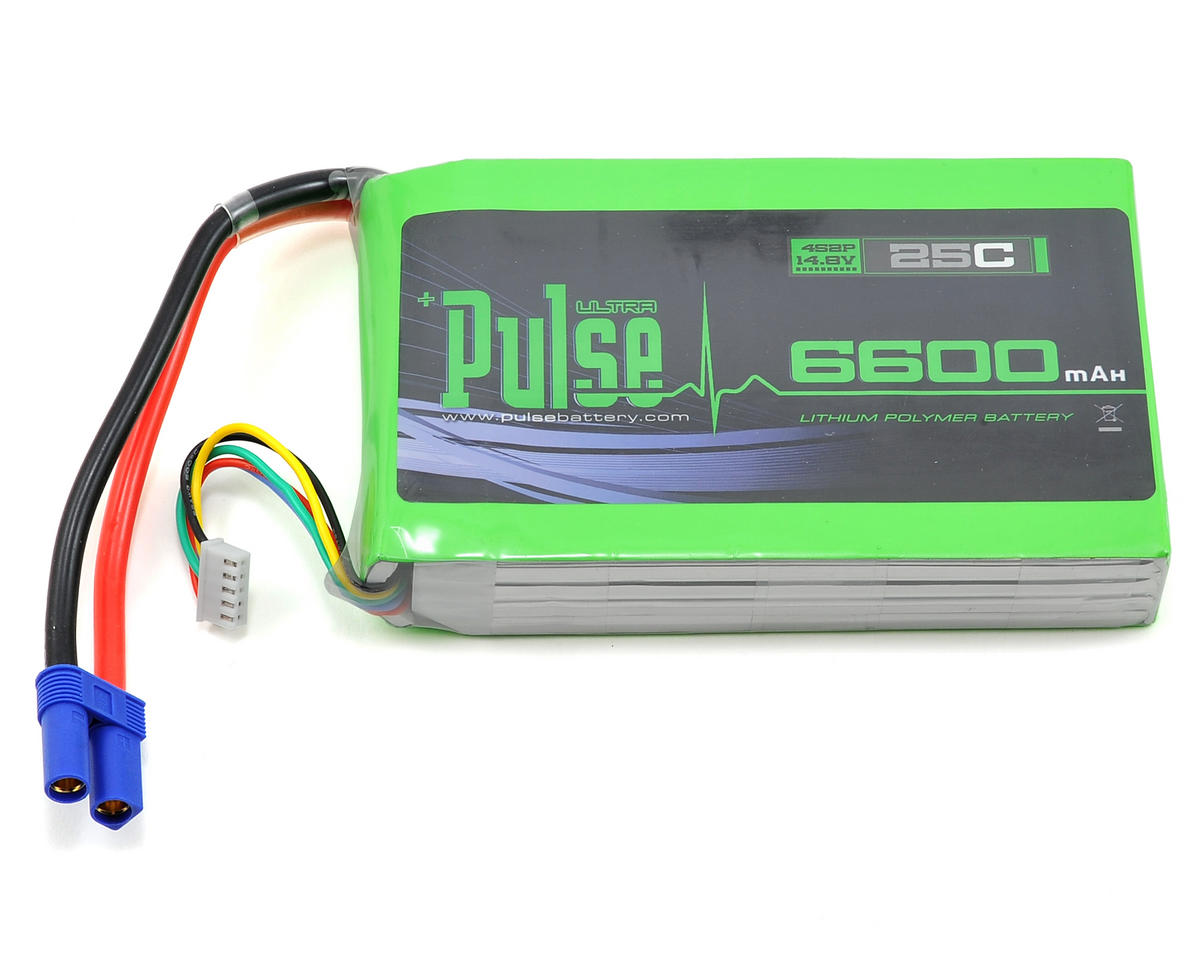 PULSE Ultra Power Series 4S Multirotor LiPo Battery Pack 25C (14.8V/6600mAh)