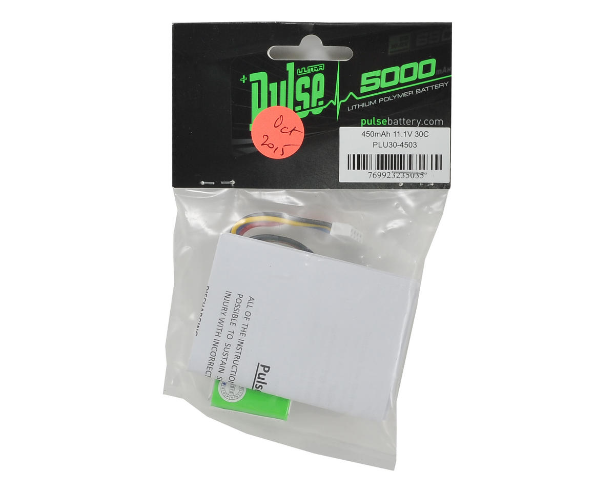PULSE Ultra Power Series 3S LiPo Battery Pack 35C (11.1V/450mAh)