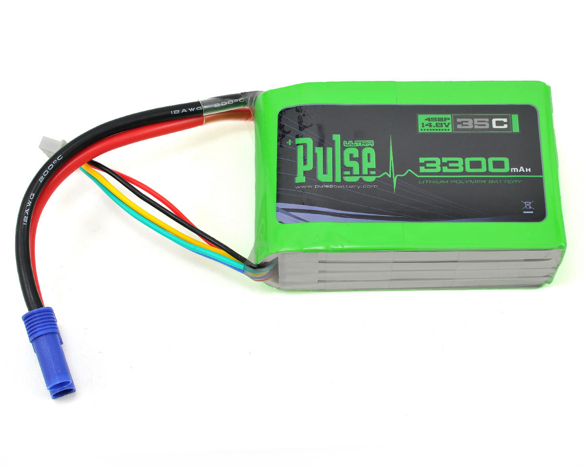 PULSE Ultra Power Series 4S2P Multi-Rotor LiPo Battery Pack 35C (14.8V/3300mAh)