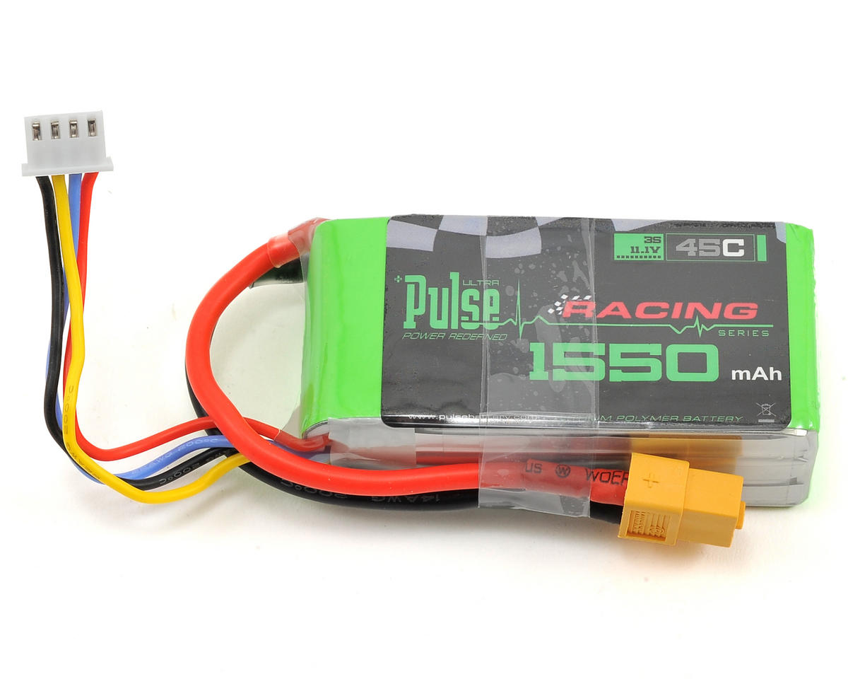 PULSE Racing Series 3S LiPo Battery Pack 45C w/XT60 (11.1V/1550mAh)