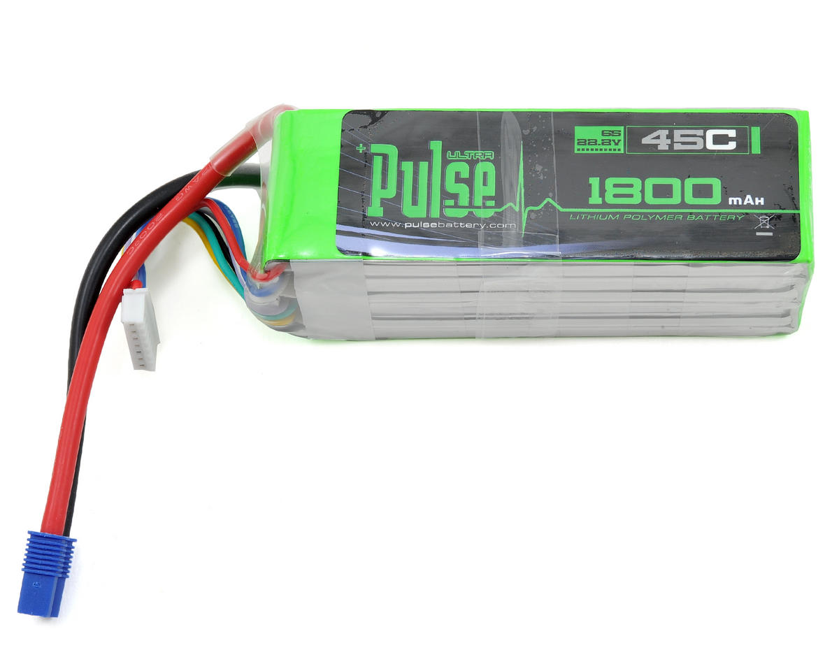 PULSE Ultra Power Series 6S LiPo Battery Pack 45C w/EC3 (22.2V/1800mAh)