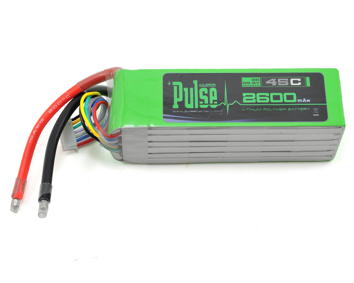 PULSE Ultra Power Series 6S LiPo Battery 45C (22.2V/2600mAh) (SAB Goblin 420)
