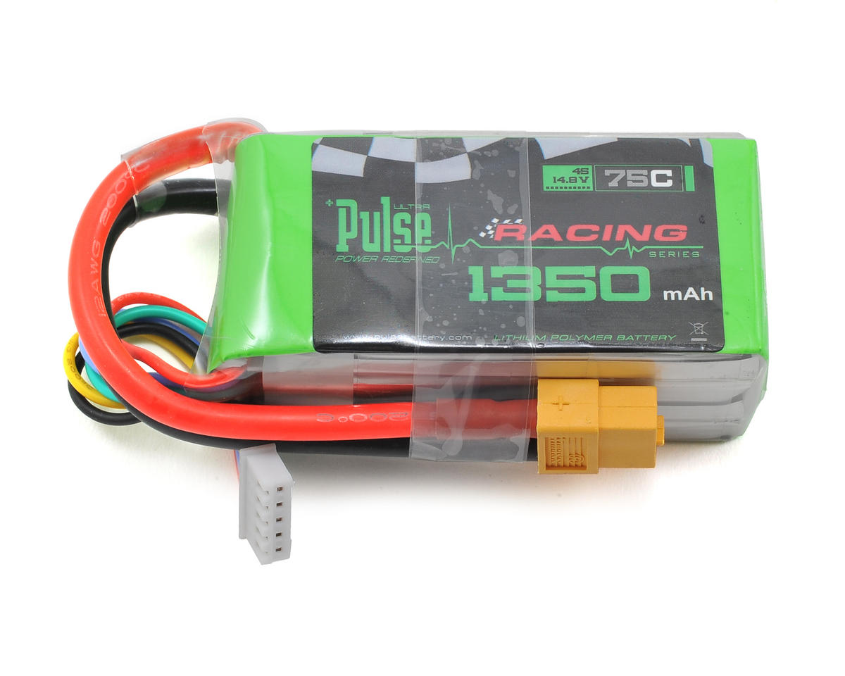Racing Series 4S Li-Po Battery Pack 75C w/XT60 (14.8V/1350mAh) by PULSE