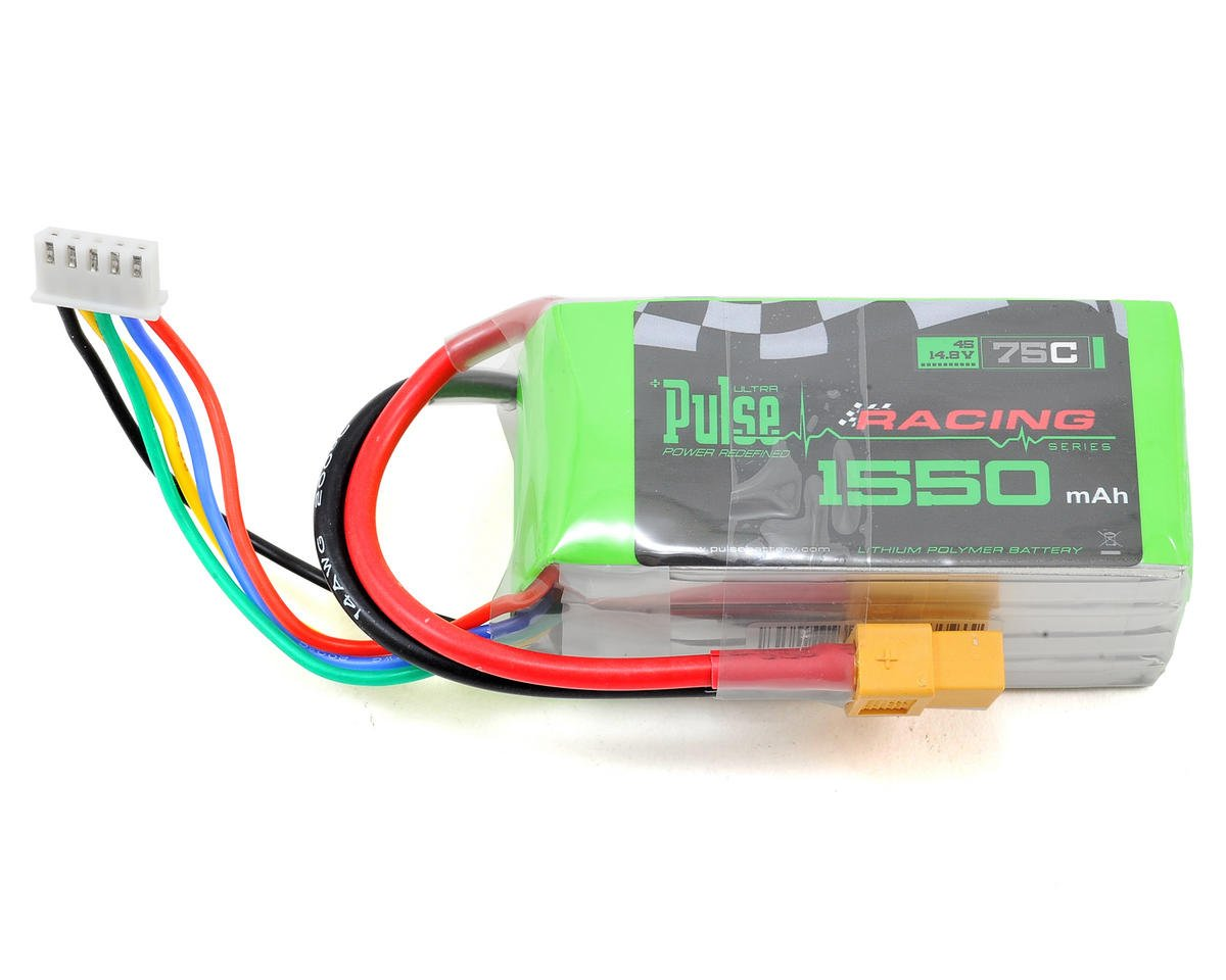 PULSE Racing Series 4S LiPo Battery Pack 75C w/XT60 (14.8V/1550mAh)