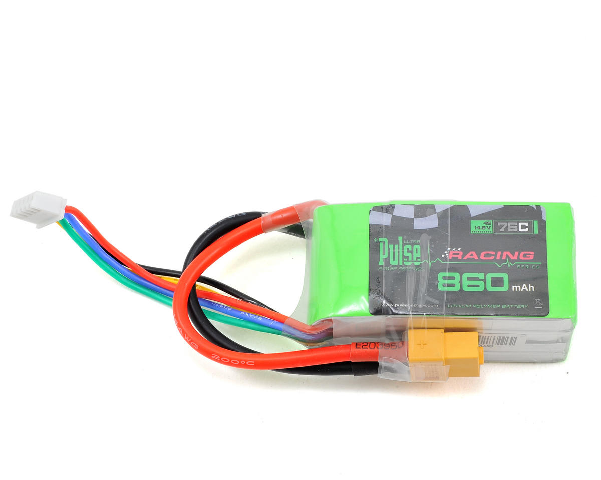 PULSE Racing Series 4S LiPo Battery 75C (14.8V/860mAh)