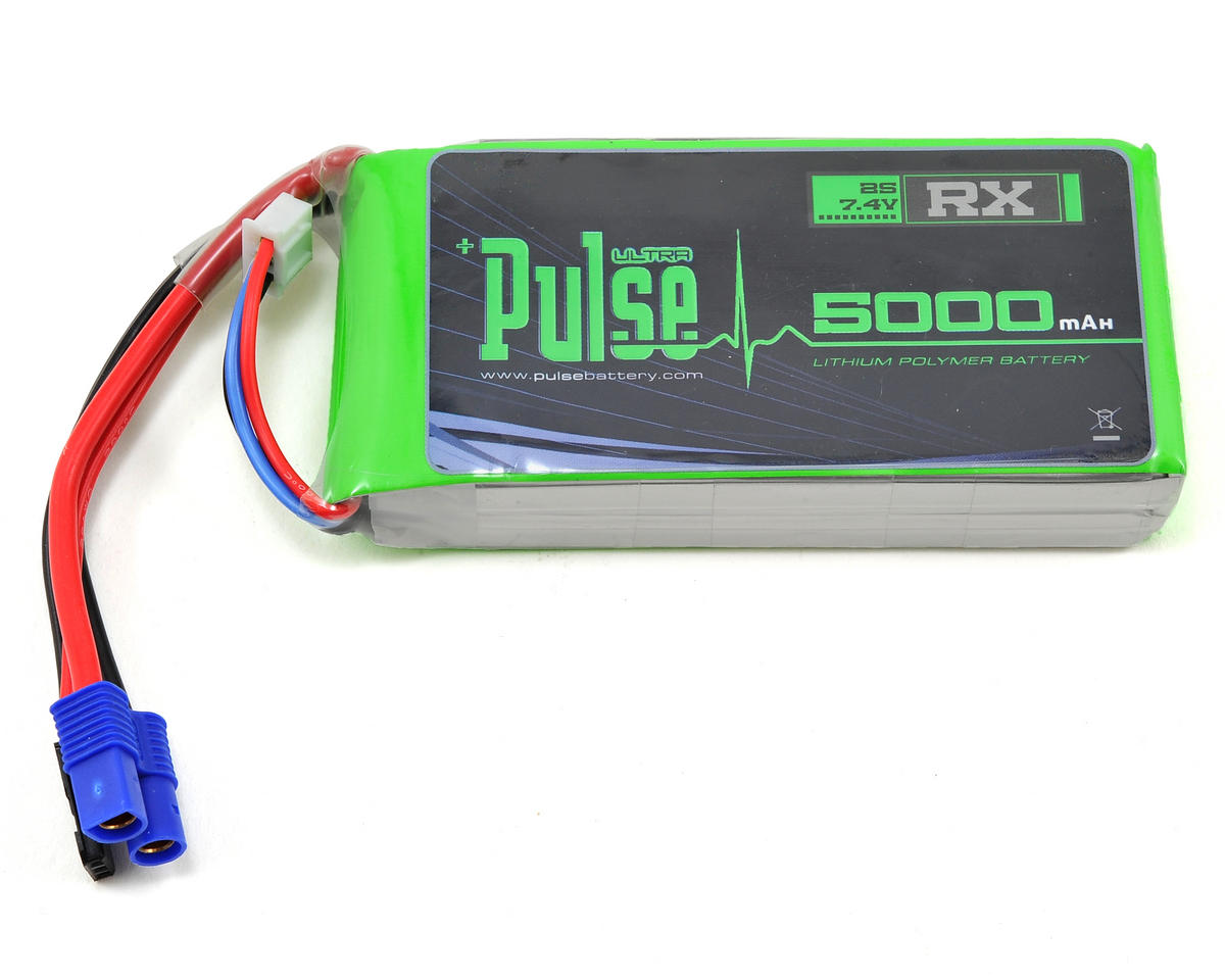 PULSE Ultra Power Series 2S LiPo Receiver Battery Pack (7.4V/5000mAh)