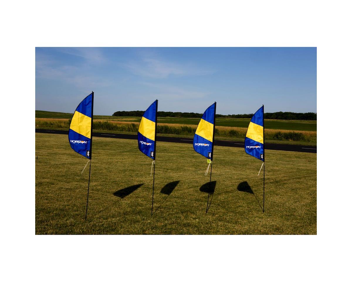 Premier Kites 3.5 ft FPV Boundry Marker Flag(4) w/Stakes HH Logo