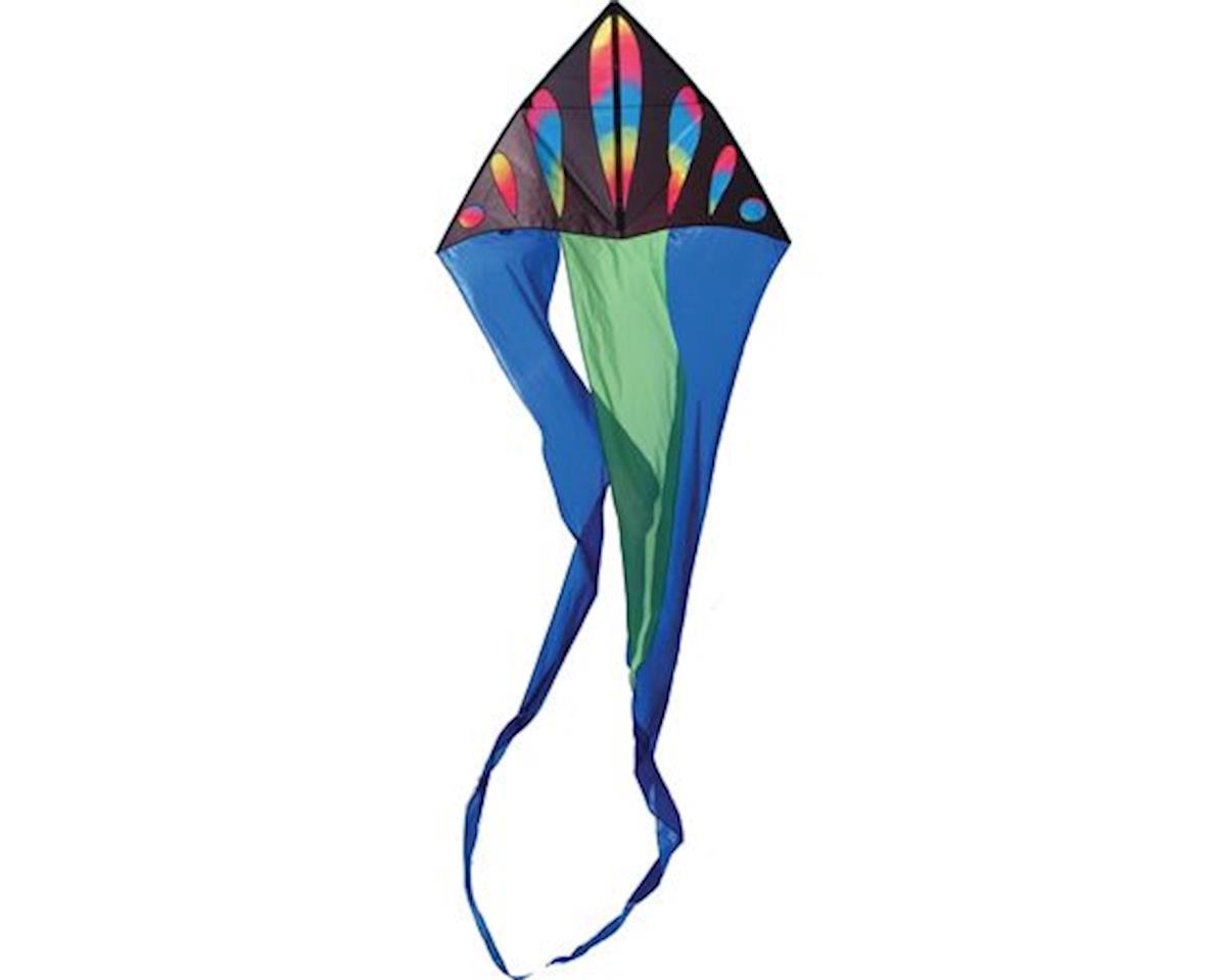 "Premier Kites 56"" Flo-Tail Delta, Wavy Gradient Bullets"
