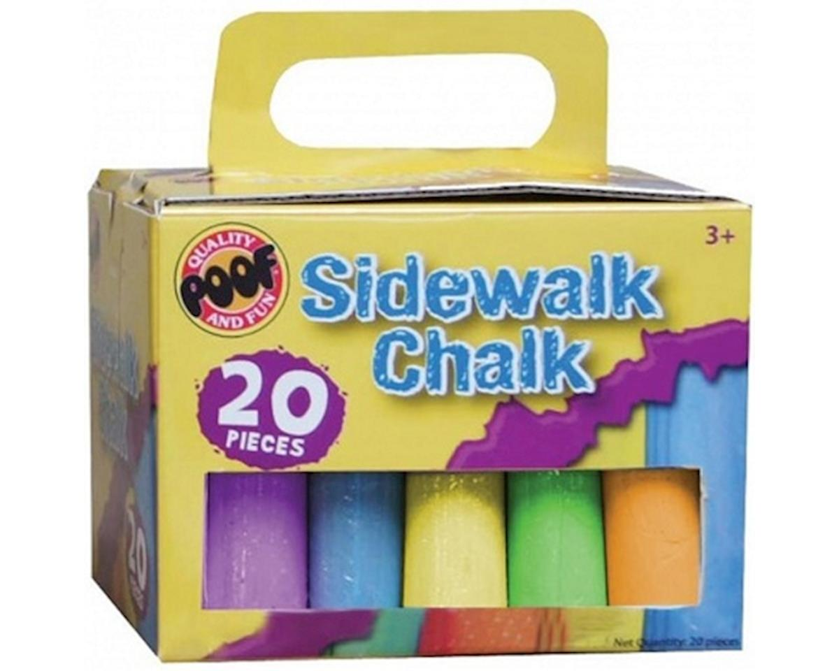 Poof Products POOF 0C8907BL 20-Piece Sidewalk Chalk