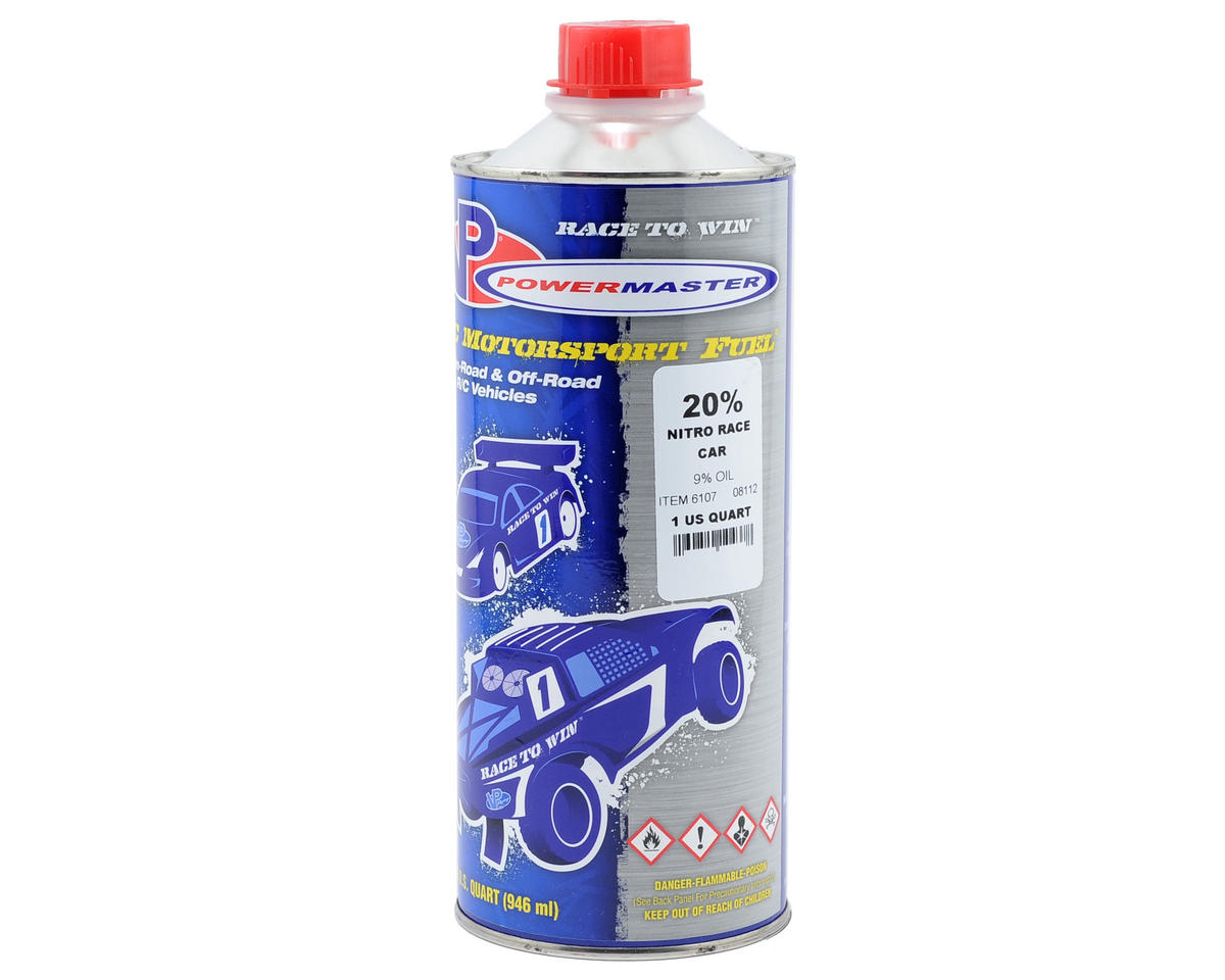 PowerMaster Nitro Race 20% Car Fuel (9% Castor/Synthetic Blend) (One Quart) | alsopurchased