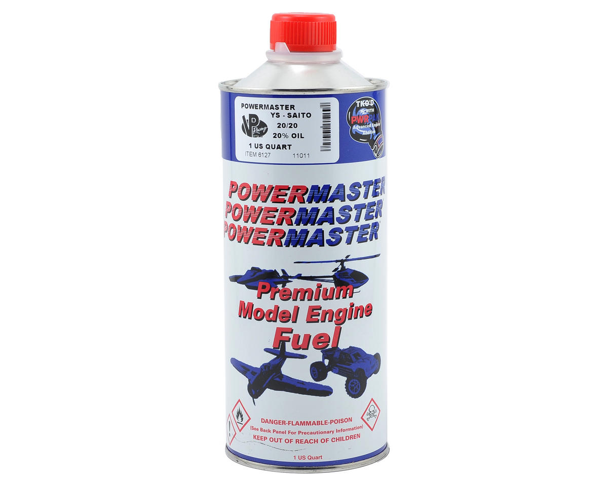 YS-Saito 20/20 Airplane Fuel (20% Synthetic Blend) (One Quart) by PowerMaster