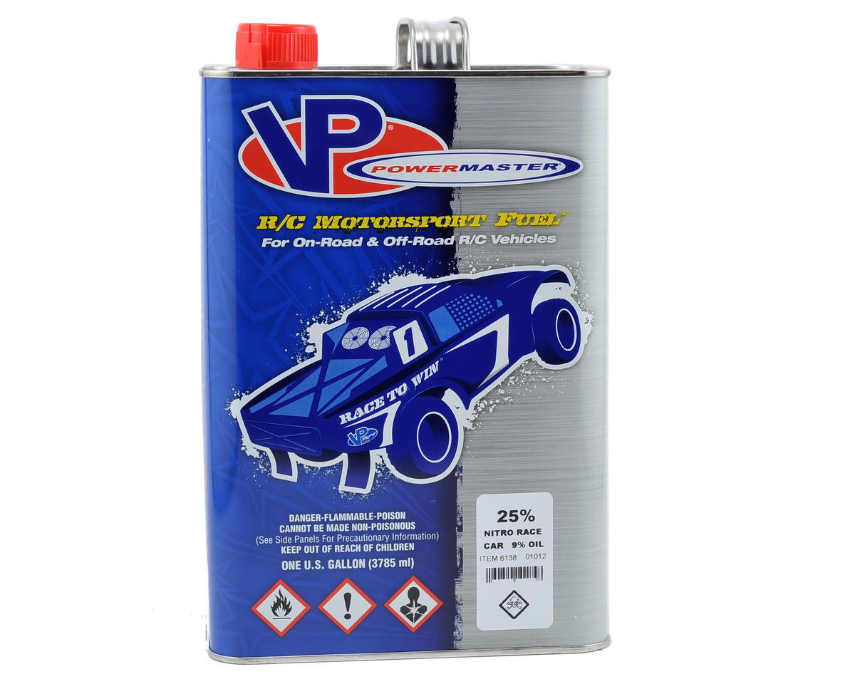 PowerMaster Nitro Race 25% Car Fuel (9% Castor/Synthetic Blend) (Six Gallons)