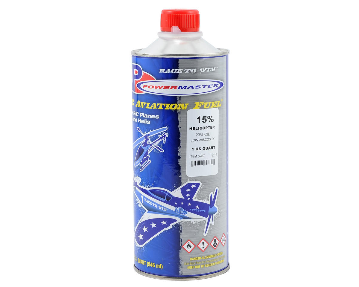 PowerMaster 15% Helicopter Fuel (23% Synthetic Low-Viscosity Blend) (One Quart)