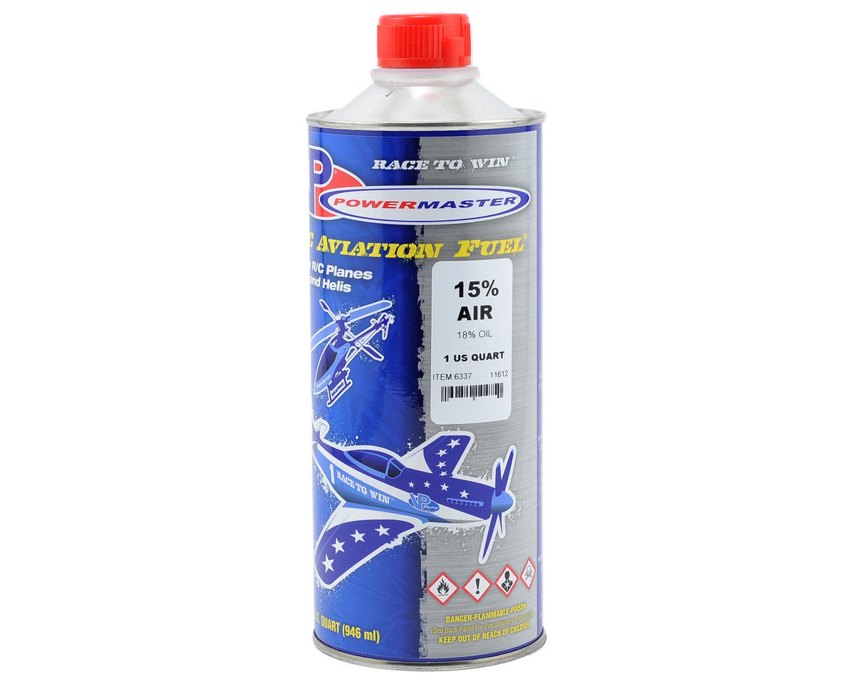 PowerMaster PowerBlend 15% Airplane Fuel (18% Castor/Synthetic Blend) (1 Quart)