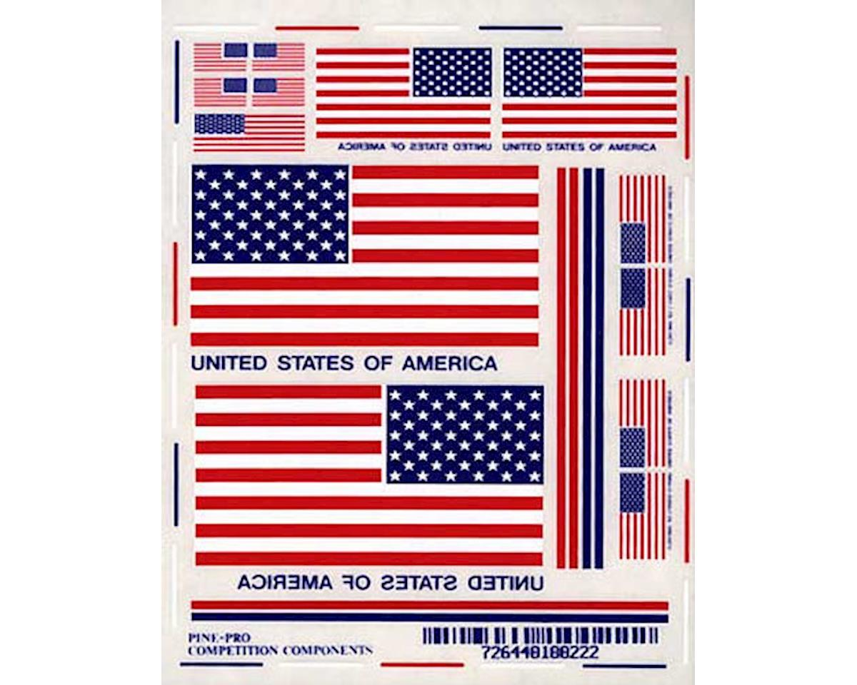 Pine-pro 10022 USA Flag Decal Set