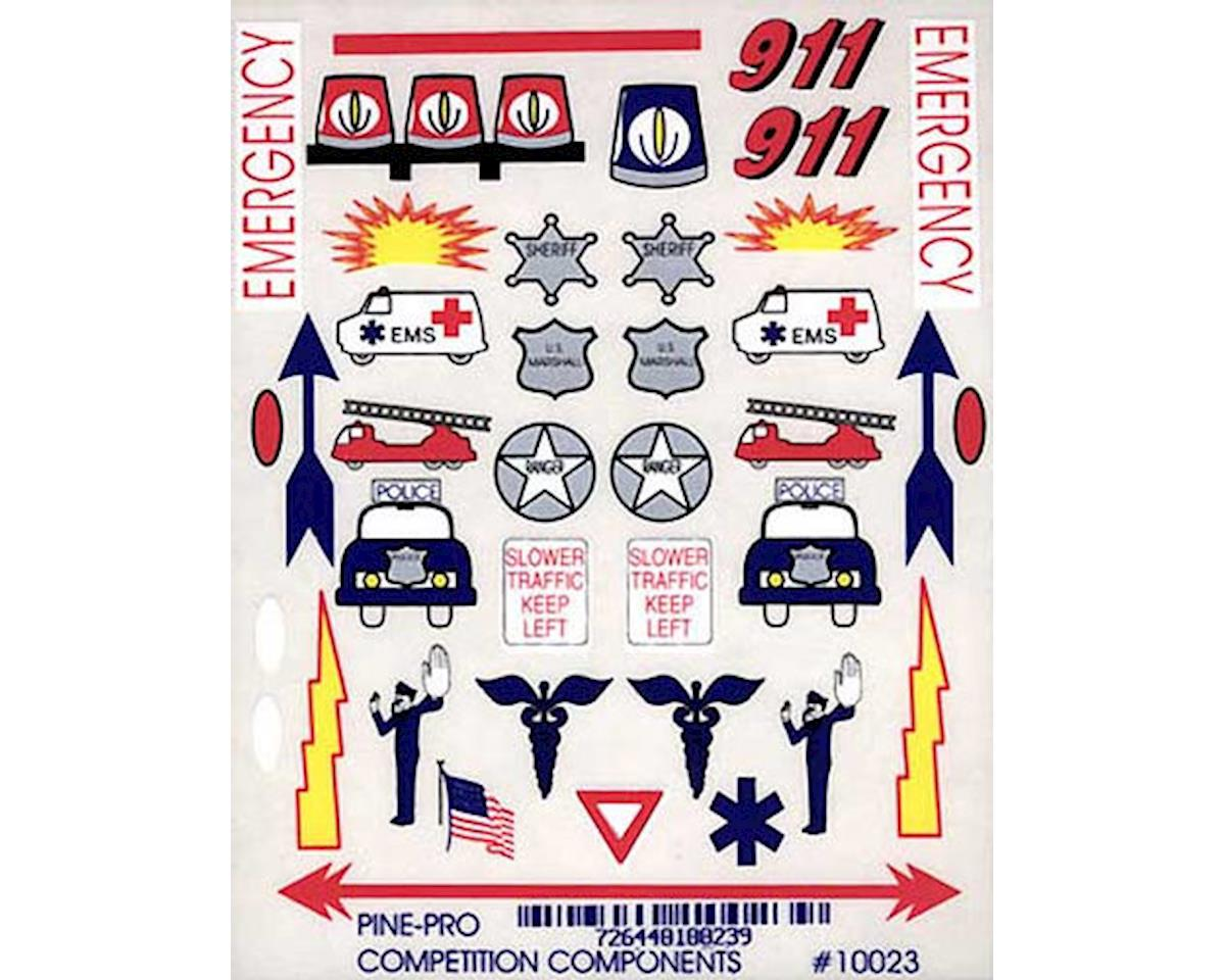Pine-pro 10023 Emergency Vehicle Decal
