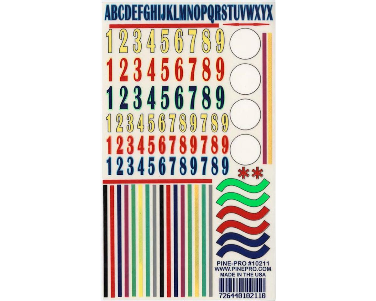 Pine-pro 10211 Numbers/Stripes Decal 5x8""