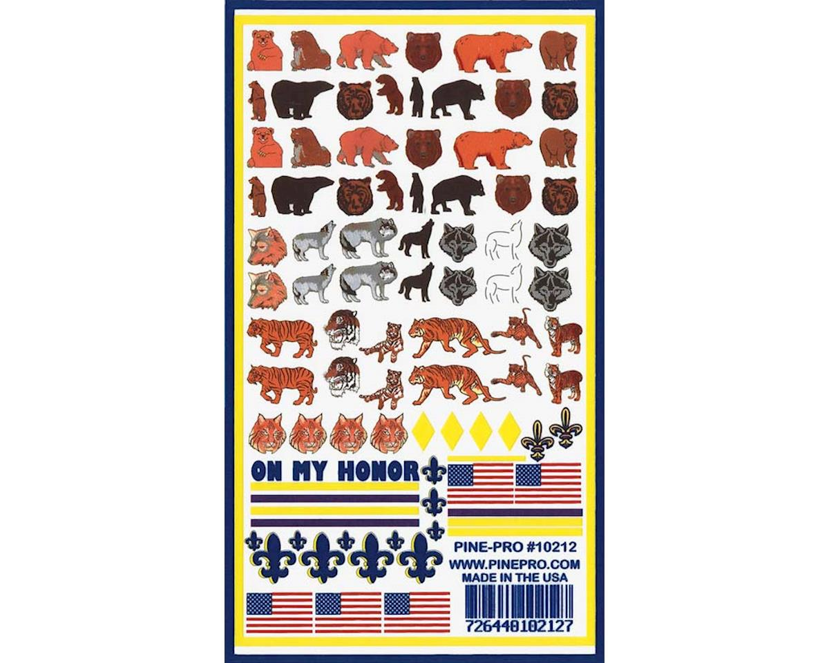 Pine-pro 10212 Animals Decals 5x8""