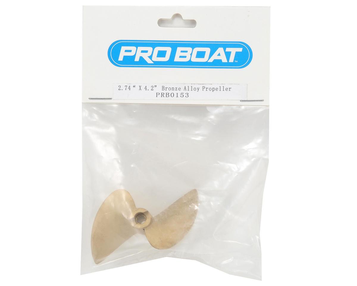 "Pro Boat 2.74x4.2"" Bronze Alloy Propeller"
