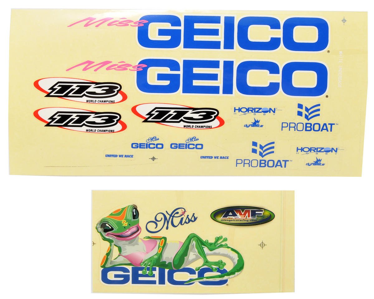 Miss GEICO 17 Decal Sheet by Pro Boat
