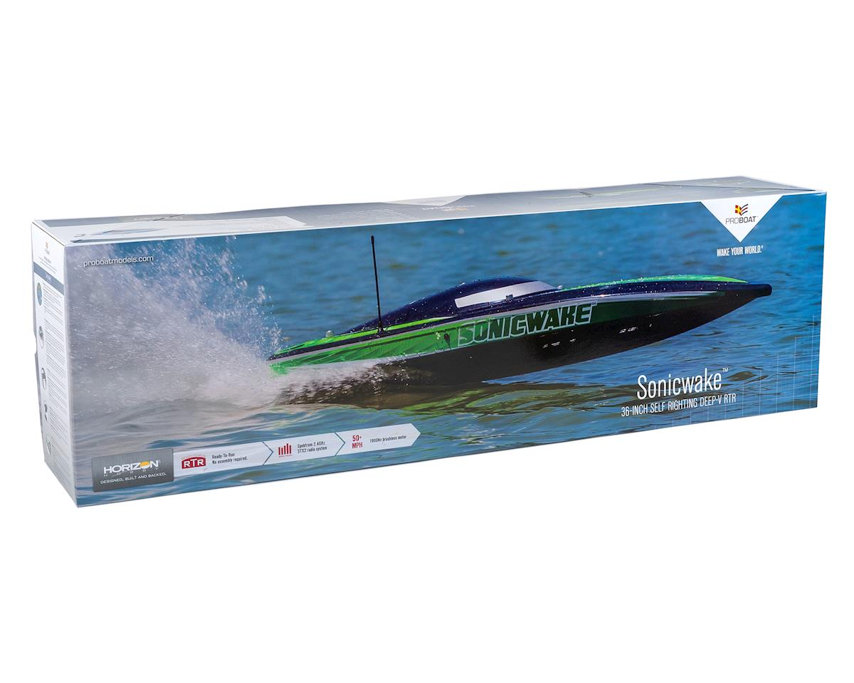"Pro Boat Sonicwake 36"" RTR Deep-V Brushless Boat (White)"