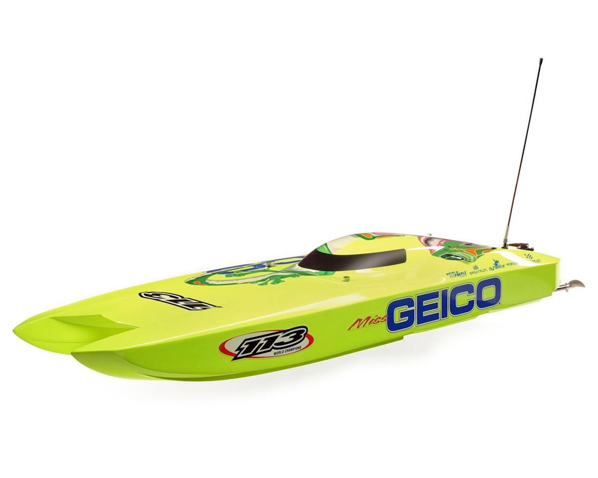 "Pro Boat Miss GEICO Zelos 36"" Twin RTR Brushless Catamaran Boat"