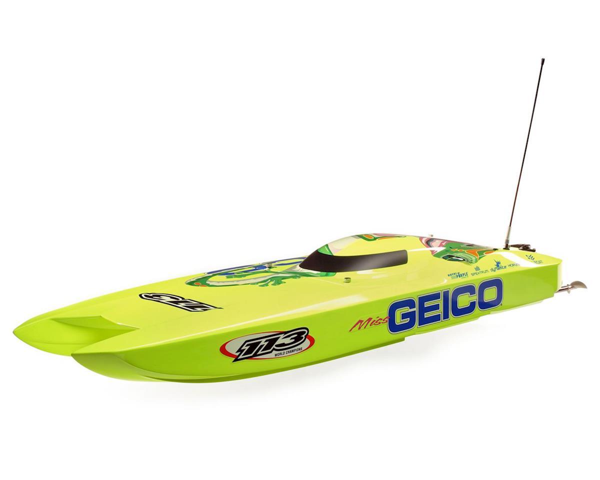 "Pro Boat Miss GEICO Zelos 36"" Twin RTR 6S Brushless Catamaran Boat"
