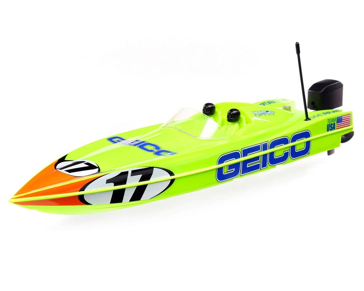 "Pro Boat 17"" Power Boat Racer Deep-V RTR Brushless Boat (Miss GEICO)"