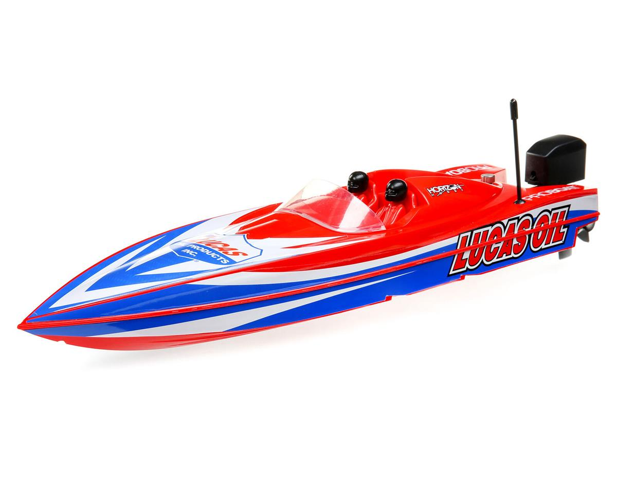 "Pro Boat 17"" Power Boat Racer Deep-V RTR Brushless Boat (Lucas Oil)"