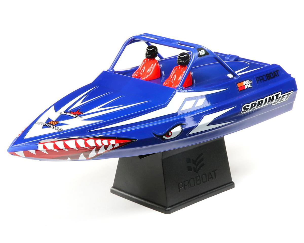 Pro Boat Sprintjet 9 Inch Self-Righting RTR Electric Jet Boat (Blue)  w/2 4GHz Radio, Battery & Charger