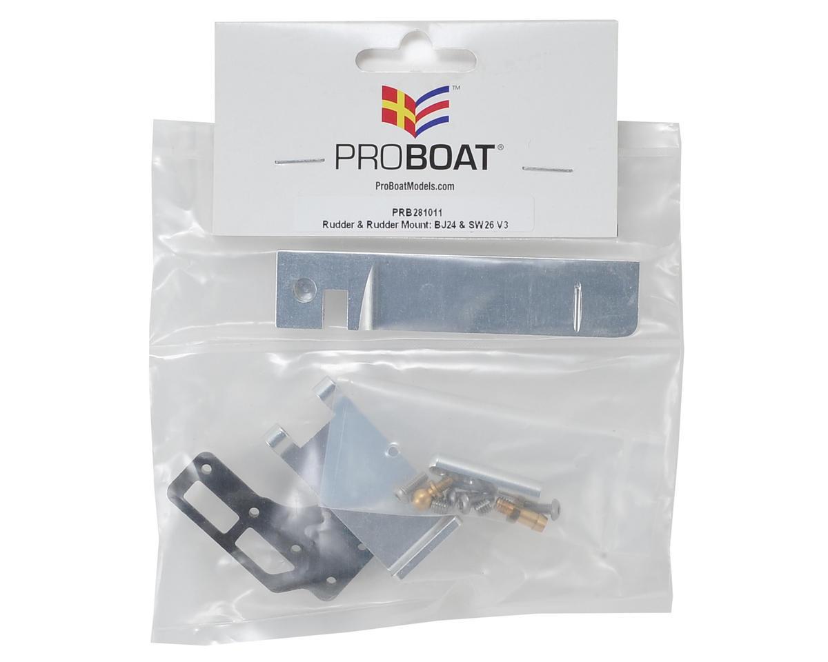 Pro Boat Rudder & Rudder Mount