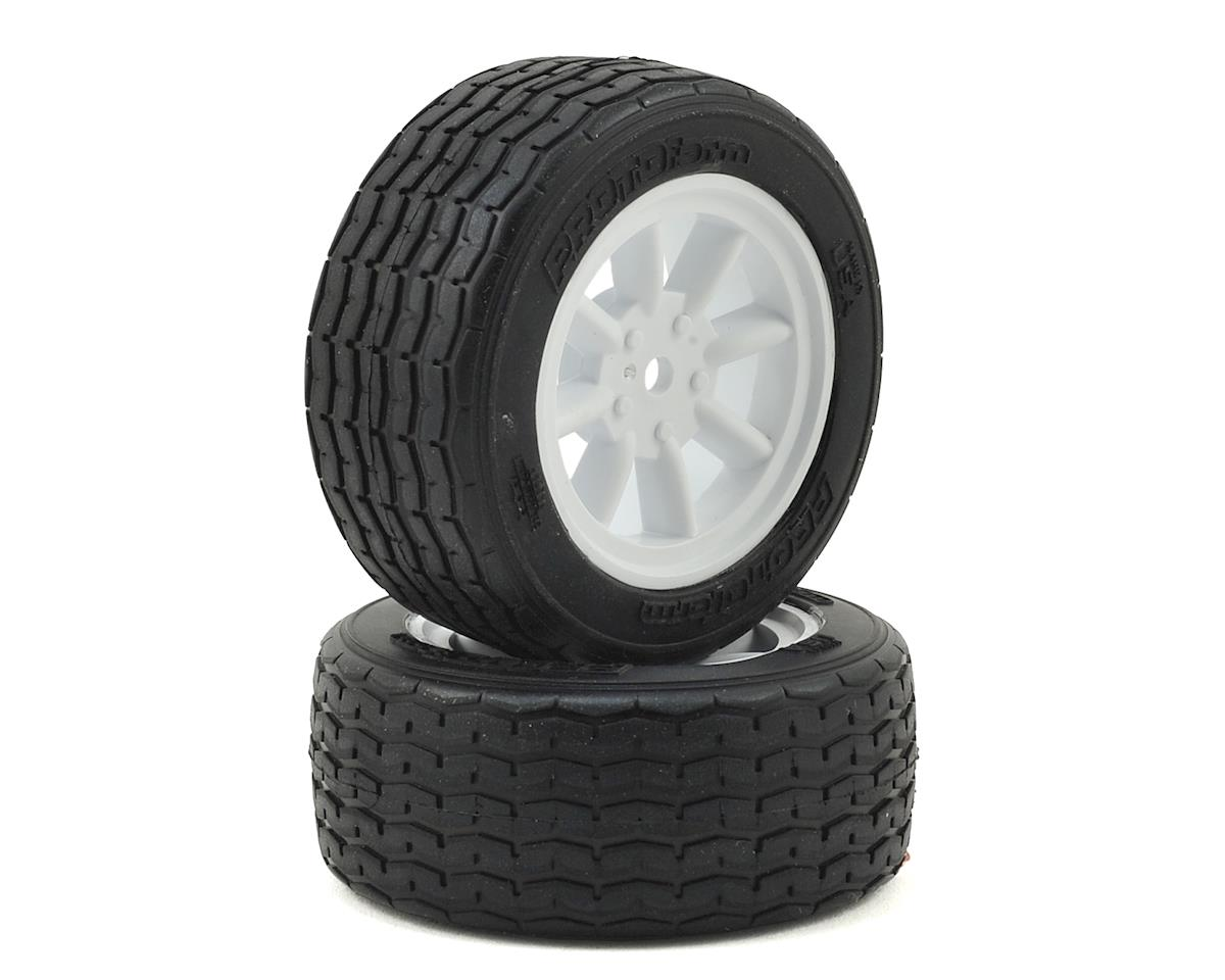 Protoform Vintage Racing Pre-Mounted Front Tire (2) (26mm) (White)