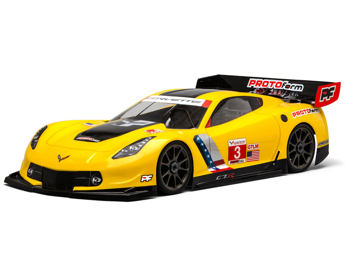 Protoform Corvette C7.R 1/8 Touring Car Body (Clear) (GT2) (Long Wheelbase)