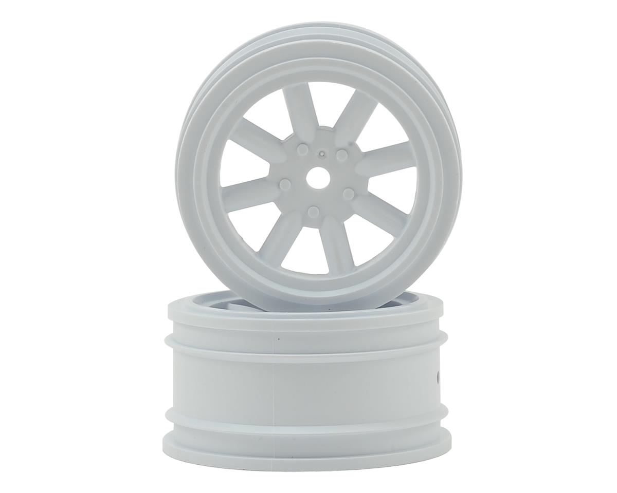 Vintage Racing Front Wheels (26mm) (2) (White) by Protoform