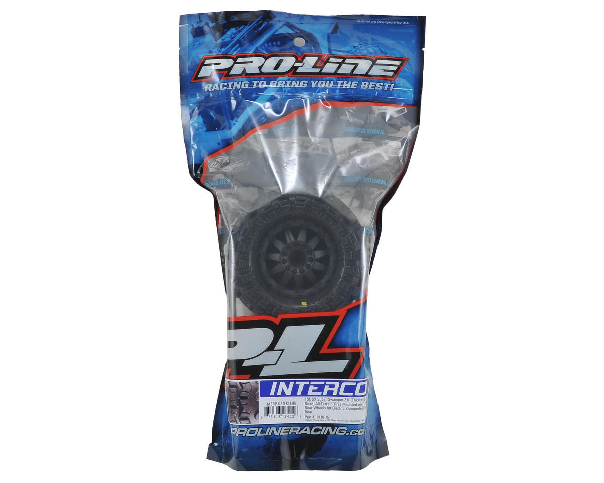 "Interco TSL SX Super Swamper 2.8"" Pre-Mounted Tires (2) (Black) (M2) by Pro-Line"