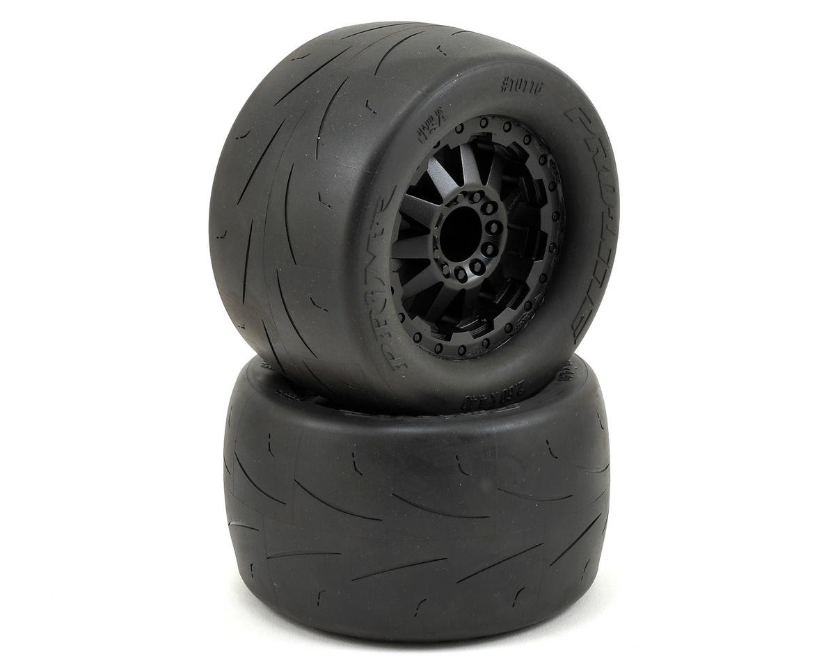"Pro-Line Prime 2.8"" Pre-Mounted Tires w/F-11 Nitro Rear Wheels (2) (Black) (M2)"