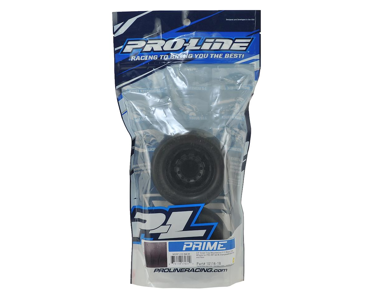 "Pro-Line Prime 2.8"" Tires w/F-11 Nitro Rear Wheels (2) (Black)"