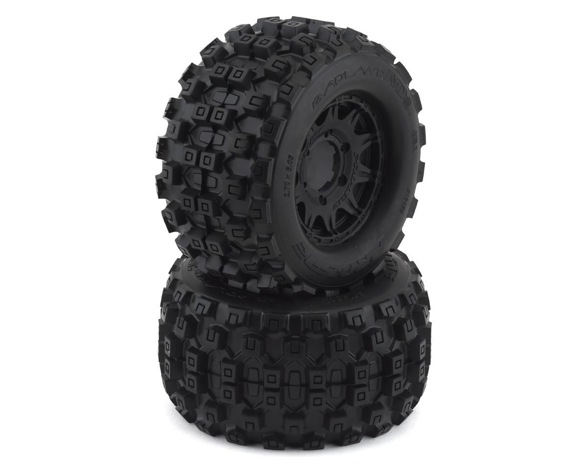 "Pro-Line Badlands MX28 2.8"" Pre-Mounted Tires w/Raid 6x30 Wheels (2) (M2)"