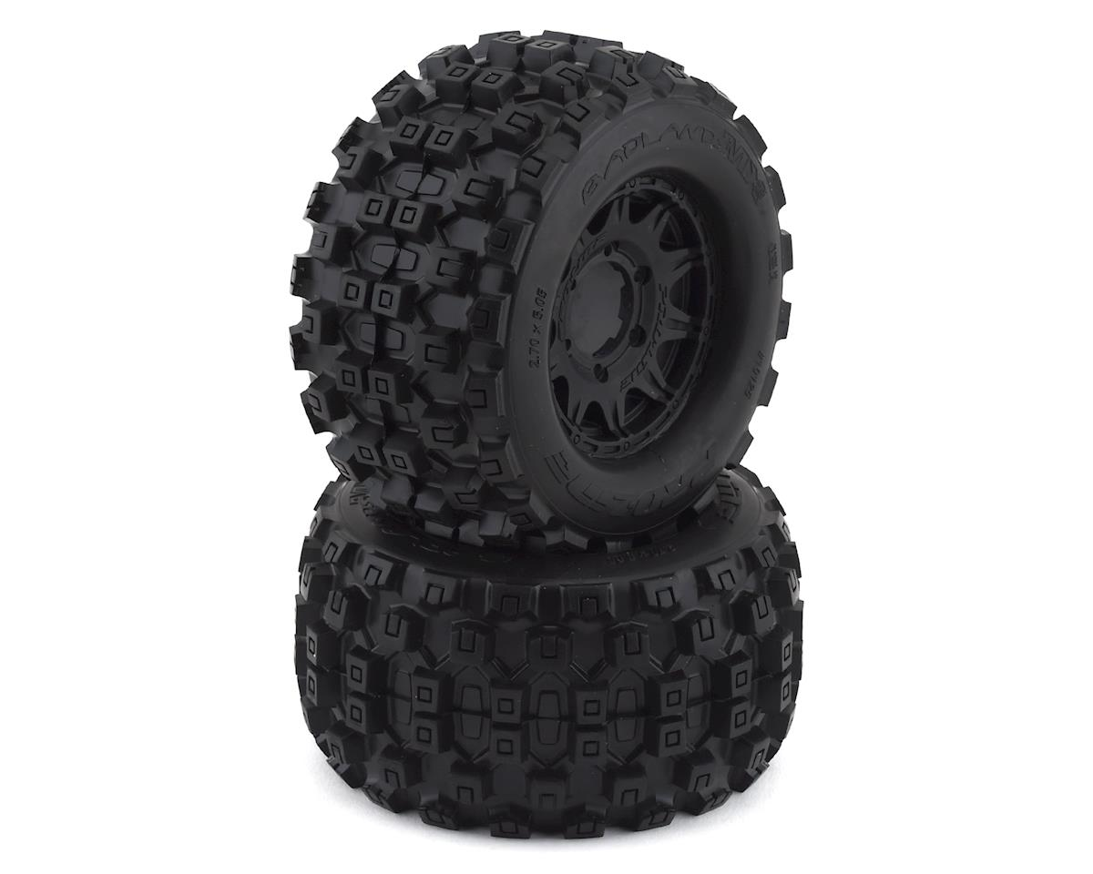 "Pro-Line Badlands MX28 2.8"" Pre-Mounted Tires w/Raid 6x30 Wheels (2) (Black) (Traxxas Rustler)"