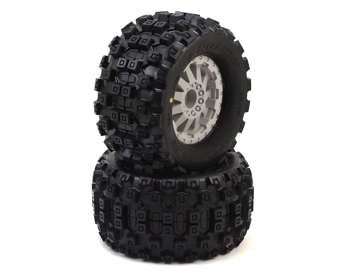 "Pro-Line Badlands MX28 2.8"" Tires w/F-11 Electric Rear Wheels (2) (Grey)"
