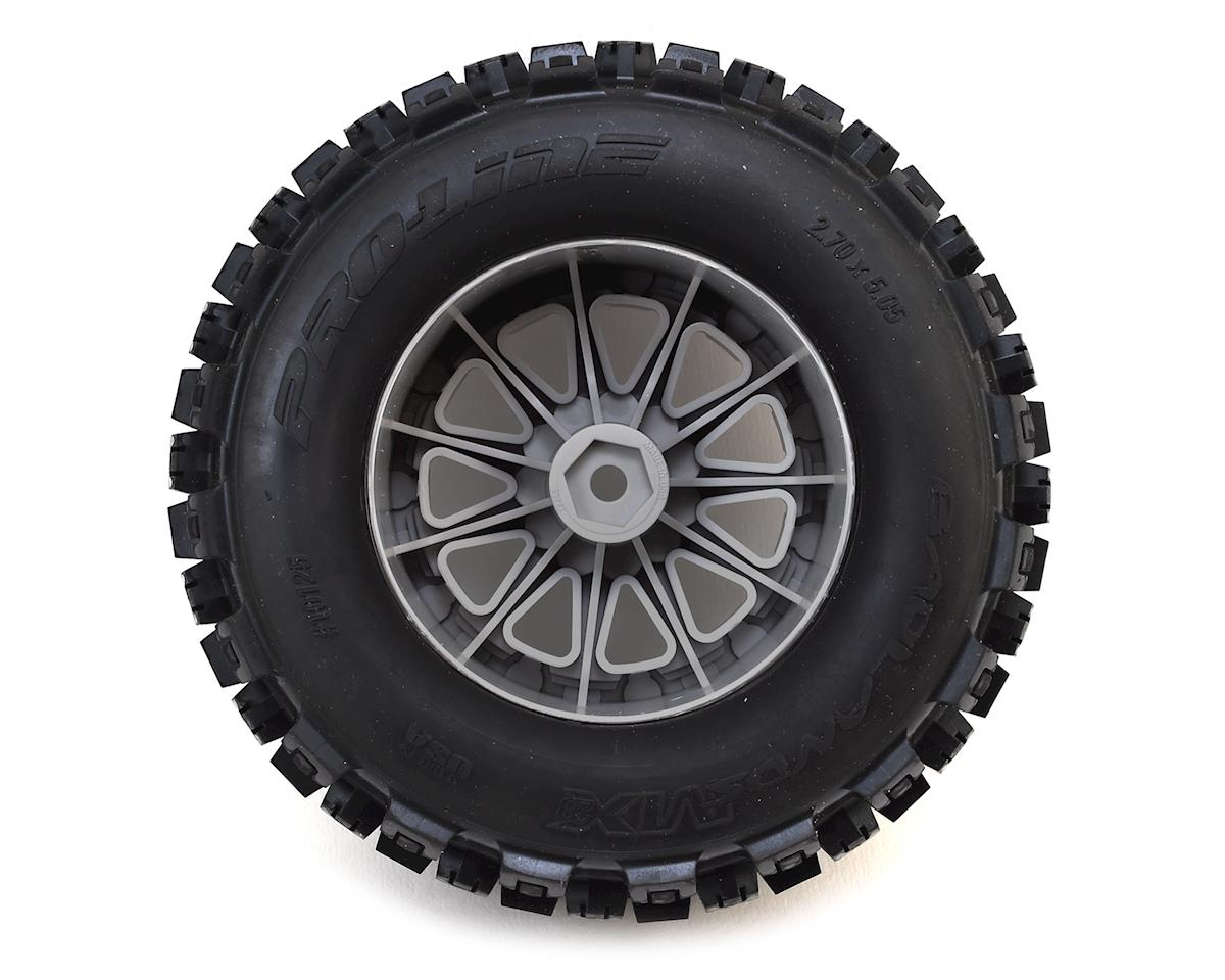 "Pro-Line Badlands MX28 2.8"" Tires w/F-11 Electric Rear Wheels (2) (Grey) (M2)"