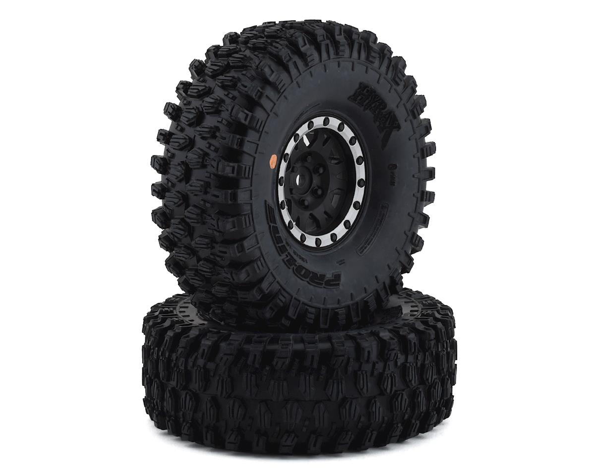 "Pro-Line Hyrax 1.9"" Tires w/Impulse Wheels (Black/Silver) (2) (GMade Komodo)"