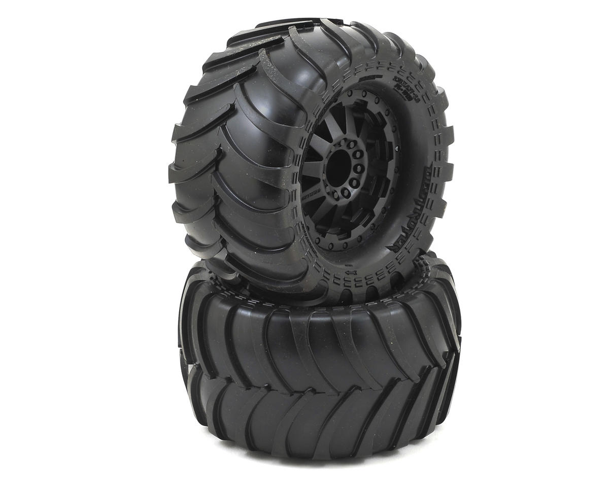 "Pro-Line Destroyer 2.8"" Tires w/F-11 Nitro Rear Wheels (2) (Black) (Traxxas Jato)"