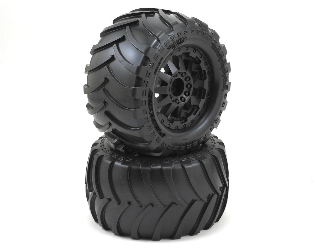 "Pro-Line Destroyer 2.8"" Tires w/F-11 Electric Rear Wheels (2) (Black)"