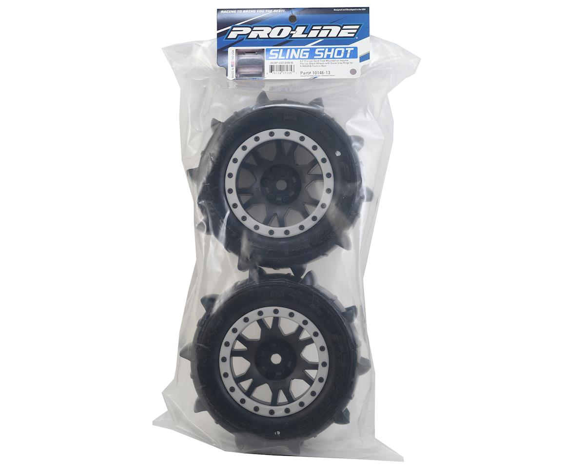 Pro-Line X-Maxx Sling Shot Pre-Mounted Sand Tires w/Impulse Pro-Loc Wheels (MX43)