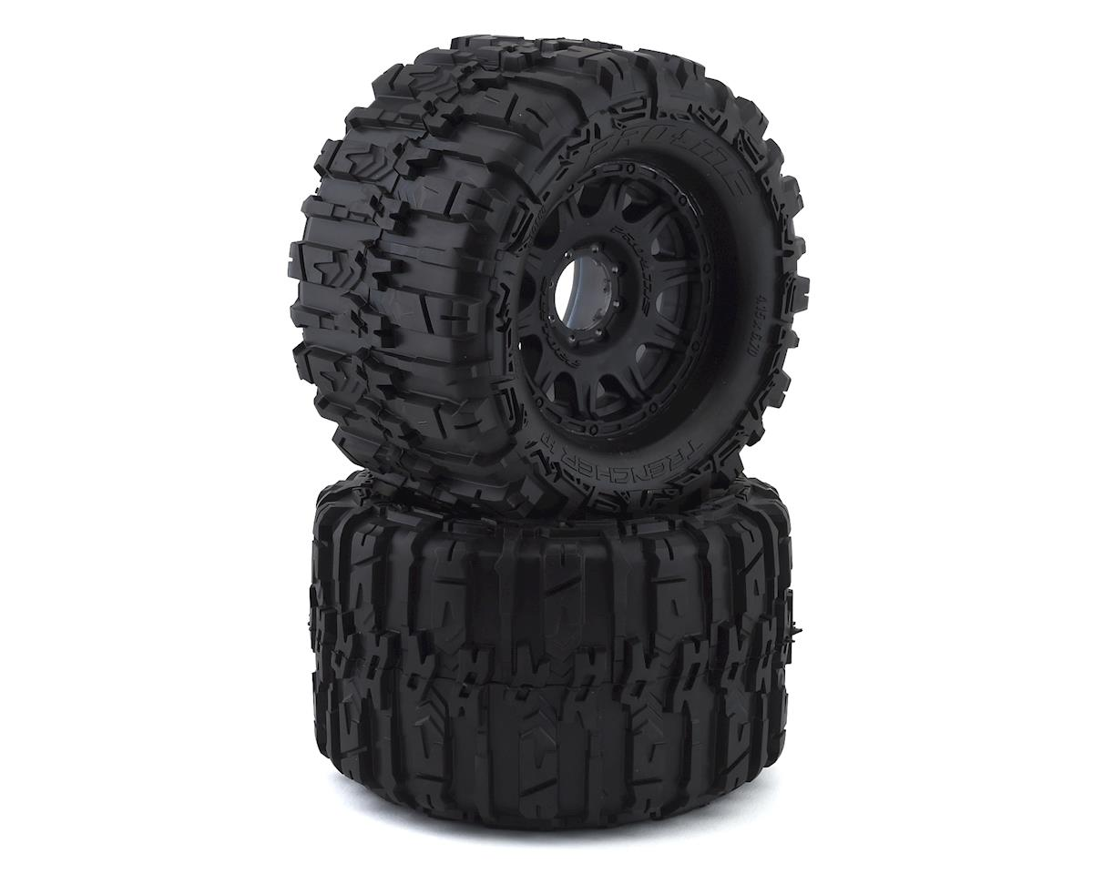 "Pro-Line Trencher HP Belted 3.8"" Pre-Mounted Truck Tires (2) (Black) (Tekno RC MT410)"