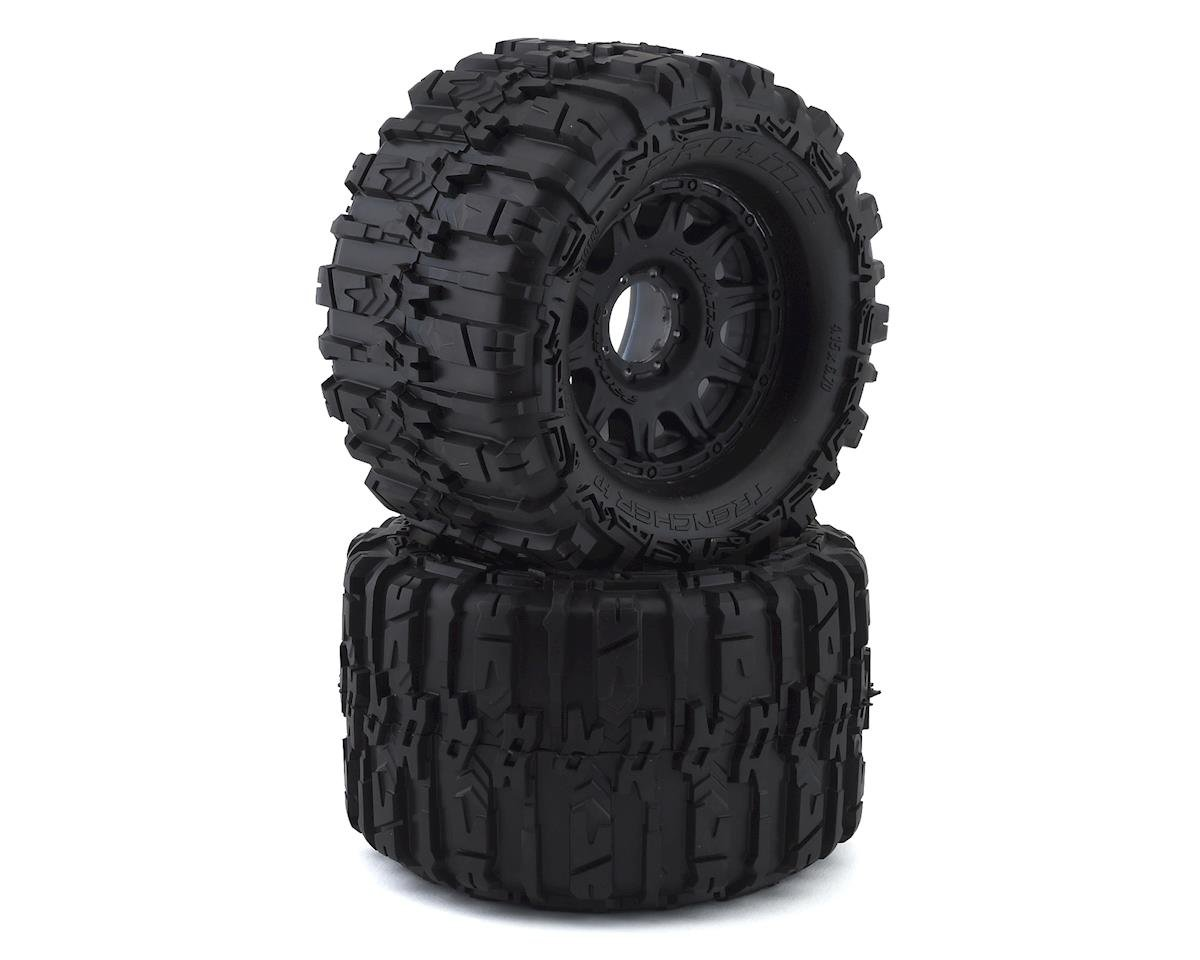 "Pro-Line Trencher HP Belted 3.8"" Pre-Mounted Truck Tires (2) (Black) (HPI Savage X)"