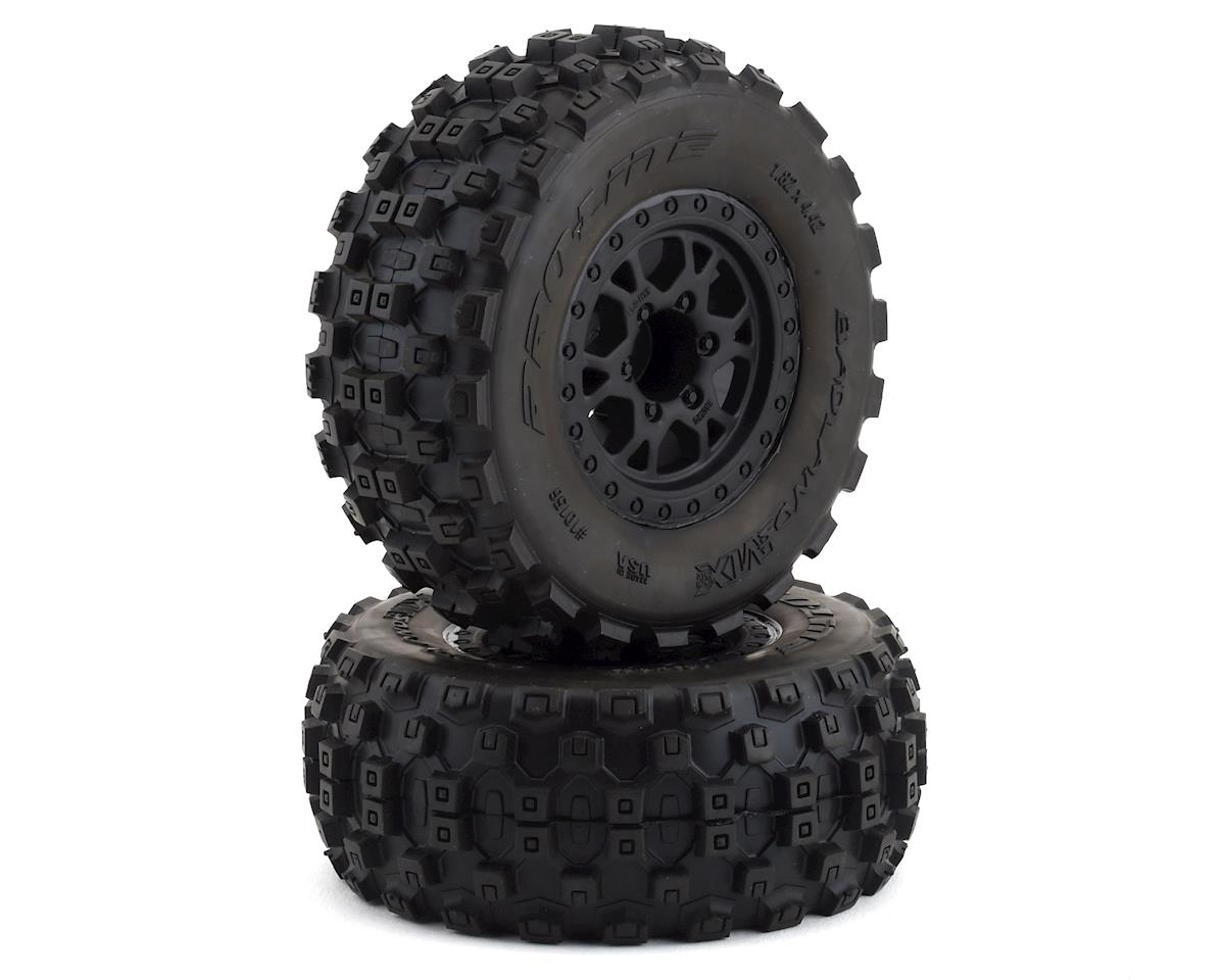 Pro-Line Badlands MX SC Tires w/Split Six Wheels (2) (Black) (Slash Front) (M2)