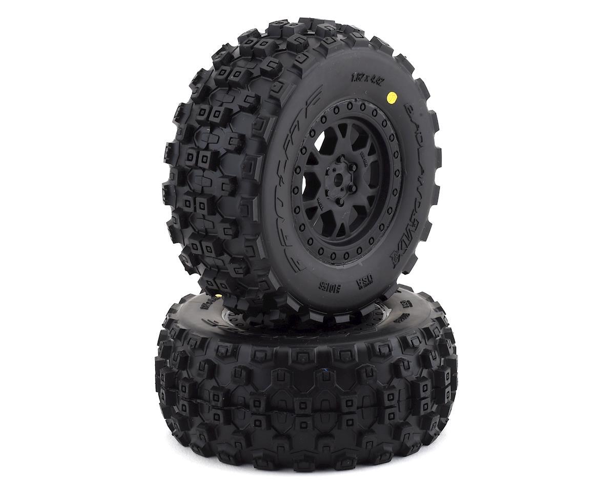 Pro-Line Badlands MX Short Course Tire w/ProTrac Renegade Wheels (Black) (2) (M2)